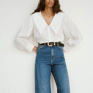 Zara Poplin Collared Shirt